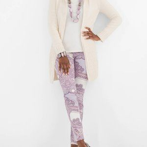 Chico's TAPESTRY-PRINT JEGGINGS NWT paisley NWT